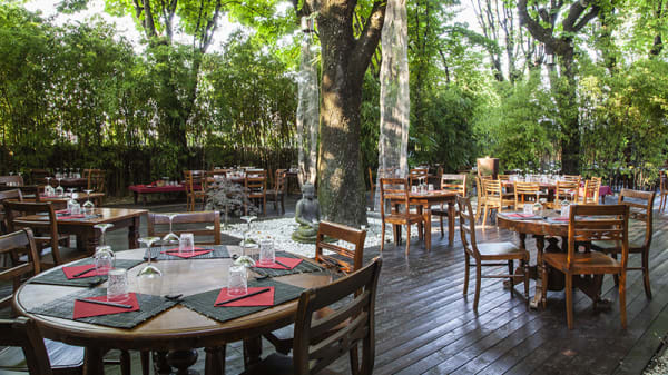 Giardino - Shambala - Locanda asiatica dai grandi alberi, Milano