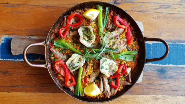 Duck Paella - One of our specials - Simply Spanish QVM, Melbourne (VIC)