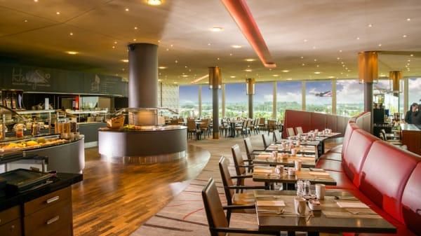 Vue de la salle - Hilton Zurich, Restaurant-Bar Horizon10, Opfikon