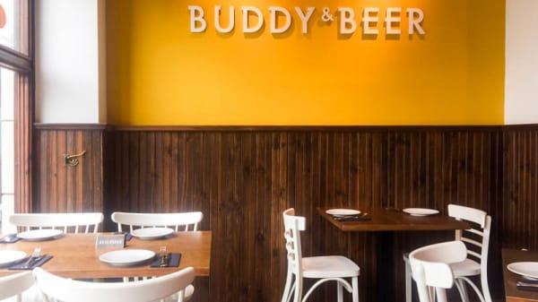 Vista de la sala - Buddy & Beer, Madrid