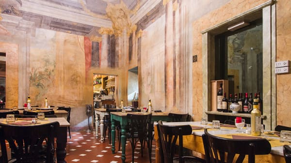 La sala affrescata - Il Porcospino, Florence