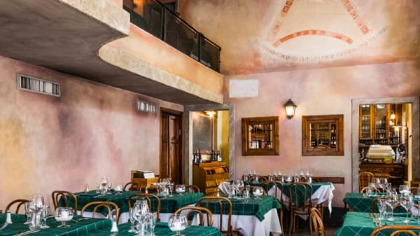 Vista sala - Cantina della Vetra, Milano