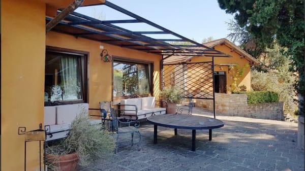 Vista della terrazza - Agriturismo Le Mandriacce, Ponzano Romano