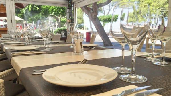 Detalle de la mesa - Sargantana, Santa Ponsa