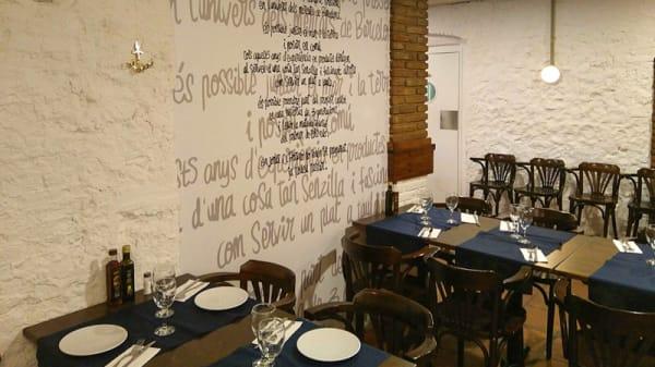 Sala del restaurante - El Racó del Peix, Barcelona
