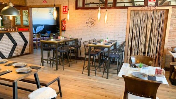 Vista de la sala - Malaca's Grill, Fuenlabrada