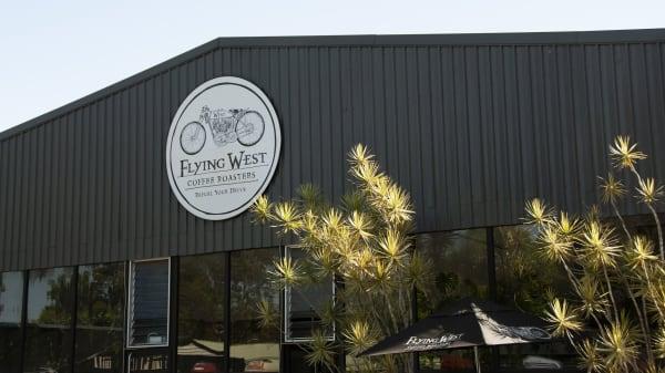 Restaurant's front - Flying West Coffee Roasters, Doonan