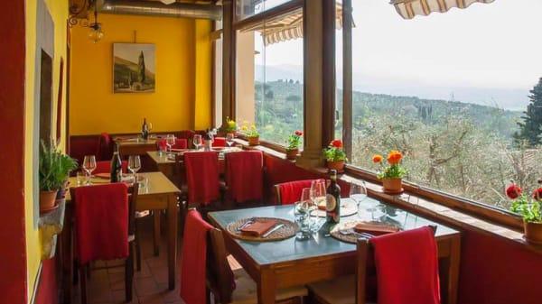 Terrazza panoramica sulle colline toscane - La Sosta del Rossellino, Firenze
