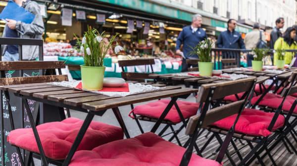 Vue de la terrasse - Kaffeehaus, Paris