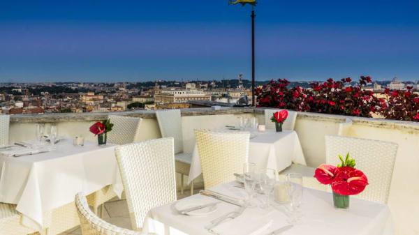 Terrazza - Roof Garden - Hotel Mediterraneo, Roma