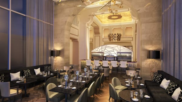 salle - Lounge Bar - Royal Savoy, Lausanne