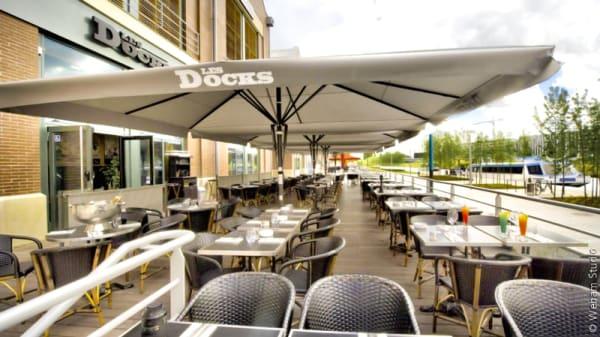 Vue de la terrasse - Brasserie Les Docks, Aubervilliers