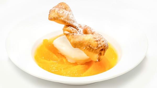Ganses Niçoises & Suzette d'Orange,Crème Glacée au Lait d'Amande - Aphrodite - David Faure, Nice