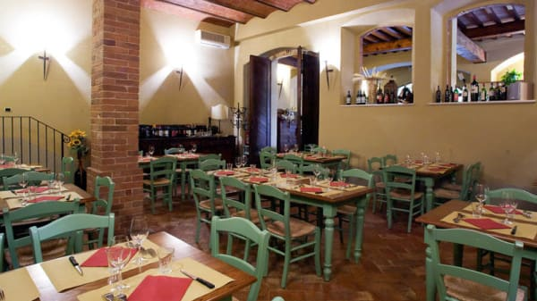 Vista sala - La Taverna del Patriarca, Chiusi