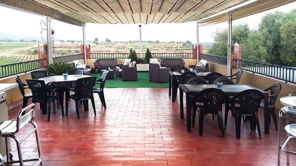Vista terraza - Restaurant Les Arades, Vilabella