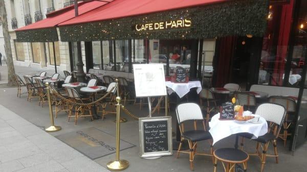 Devanture - Le Café de Paris, Paris