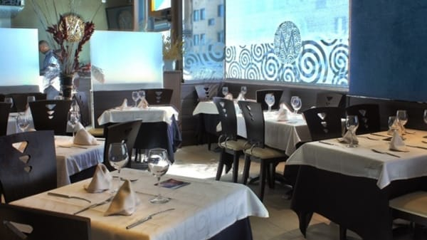Vista mesa - Forno Minutas, Madrid