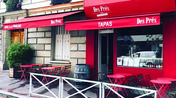 Devanture - Des Prés Tapas à la Française, Montrouge