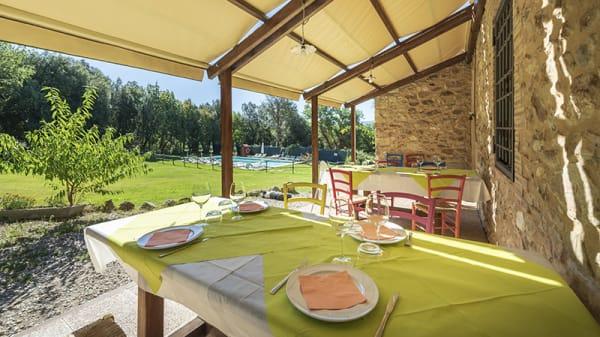 Parte esterna per mangiare - Agriturismo Casa Verniano, Colle di Val d'Elsa