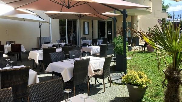 Vue de la terrasse - Chez Pierre Montbonnot, Montbonnot-Saint-Martin