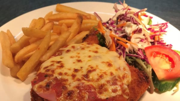 Chicken Parmigiana - The Four Mile Creek Hotel, Strathpine (QLD)