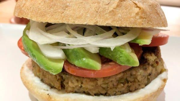 Sugerencia del chef - Melocotón vegan burger, Barcelona