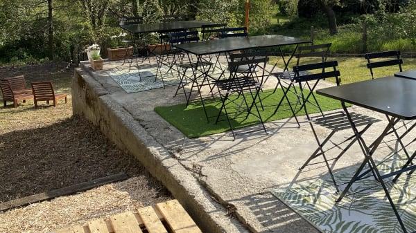 terrasse arrière au calme et plein sud - Pastissima, La Hulpe