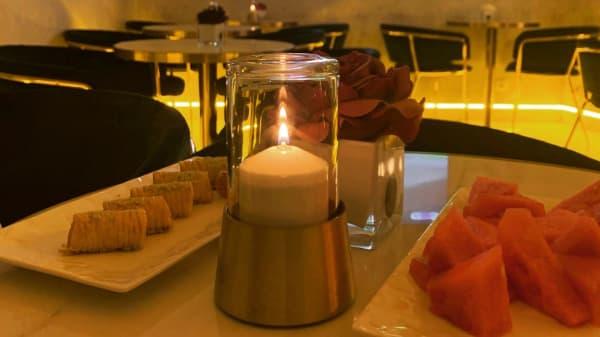 Détail de la table - Chez Maram, Paris
