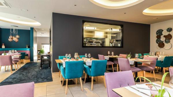 la salle de restaurant - L'Atelier du Moutier, Brive-la-Gaillarde