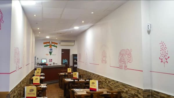 Vista del interior - Jaipurwala cocina hindú, Barcelona