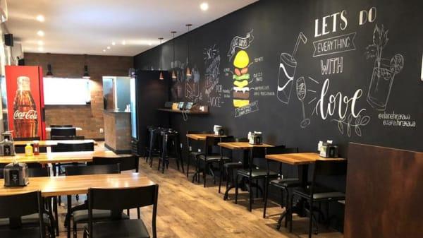 Vista da sala - The Choice Burger, São Paulo