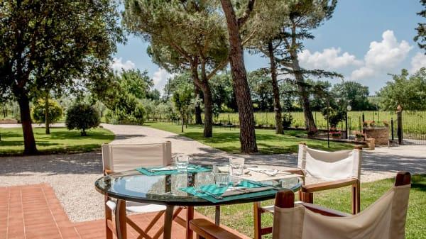 Vista tavolo esterno - Podere la Rocca, Abbadia di Montepulciano
