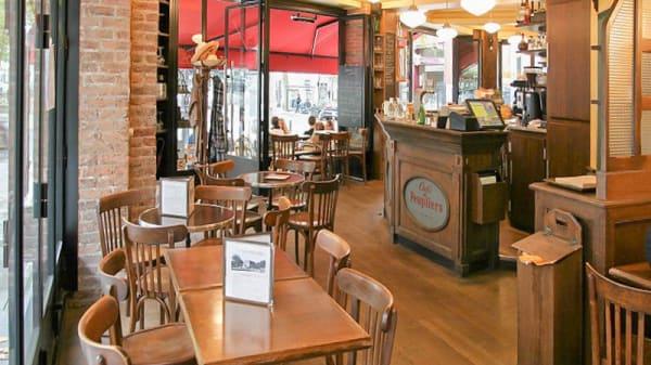 Vue de la salle - Cafe des Peupliers, Paris