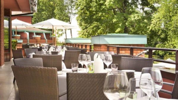 Vue de la terrasse - Le Loti - La Réserve Genève, Bellevue