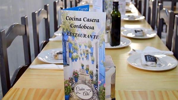 Detalle mesa - CAÑA AKI, Huelva