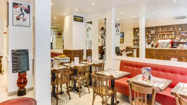 Vue de la salle - Café Blanche, Paris