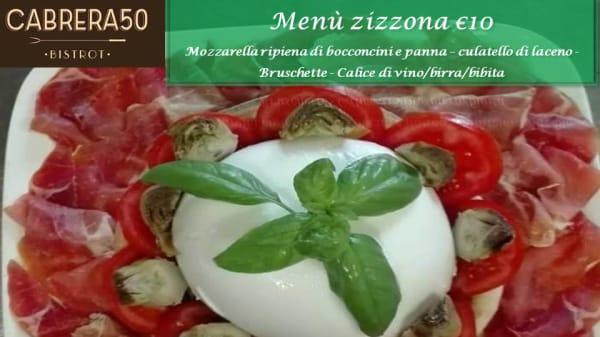 Menù zizzona - Cabrera 50 Bistrot, Mercato San Severino