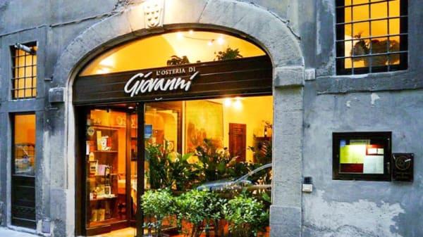 La entrata - L'Osteria di Giovanni, Firenze