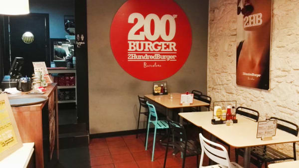Vista sala - 2Hundred Burger, Barcelona