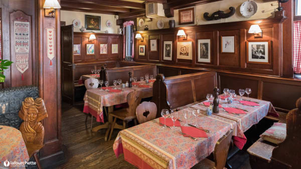 Salle du restaurant - Chez Yvonne, Strasbourg