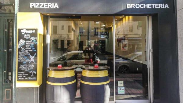 Entrada - Grappa PIzzeria & Brochetería, Madrid