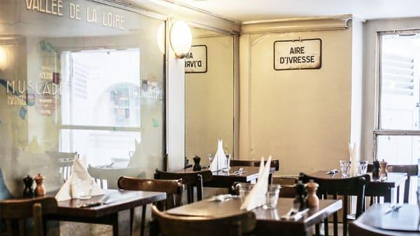 Vue de la salle - Aux bons crus, Paris