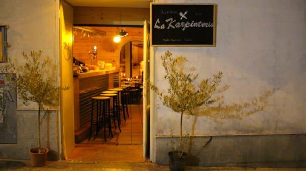 Vista entrada - La Karpintería, Madrid