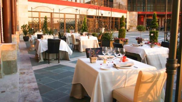 Vista terraza - Mar de Olivos - Hotel Villa Nazules, Almonacid De Toledo