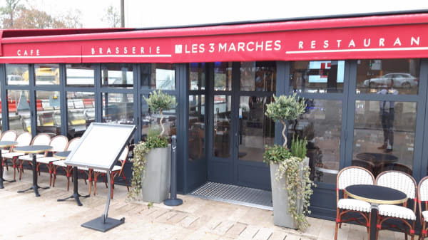 Terrasse - Les 3 Marches - Brasserie, Châtenay-Malabry