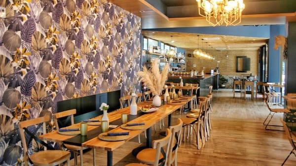 La mesa! Diseñada en exclusividad para nuestro restaurante. - Golf de La Cocina De Malú, Madrid