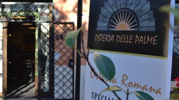 cartellone vicino all'ingresso - Osteria delle Palme, Rome