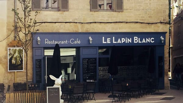 Devanture - Le Lapin Blanc, Avignon
