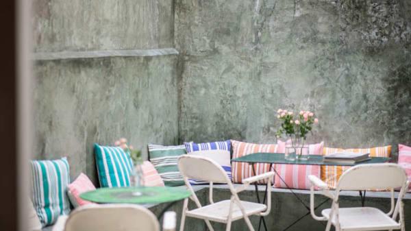 Vista terraza - Family Room Café, Barcelona