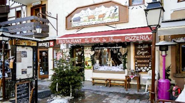Devanture - La Table du Berger, Les Avanchers-Valmorel